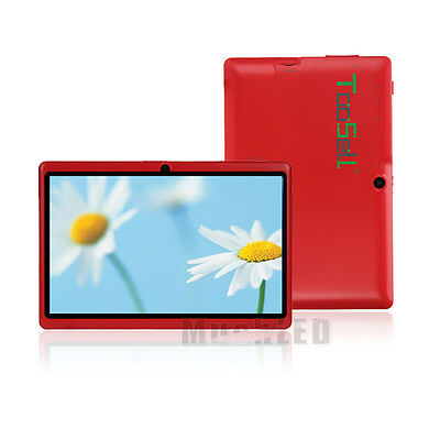 """8GB Google Android 4.0 Tablet PC 7"""" A23 Capacitive Screen Camera MID Wifi US Red"""