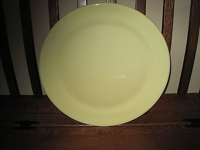 T.S.&T. LURAY Round Yellow Pastel Serving Platter/Chop Plate