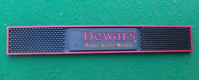DEWARS Finest Scotch Spill Rubber Bar Drink Mat Used in Reno, Nevada Casino