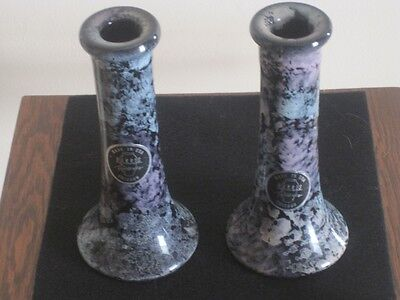 Two Exquisite Vintage Harris Potteries Chicago Candle Holders