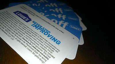 3 Lowes 10%-Off-Coupons Exp 5/7/2015 Blue Cards Use @ Lowes or Home Depot