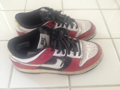 Nike Air Force 1 Youth Low Top Sneakers. Red/White/Black. Size 5Y.