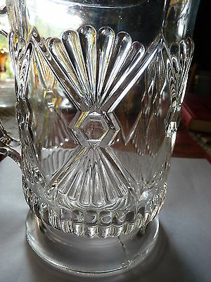 EAPG King's Curtain Water Pitcher Early American Pressed Glass circa 1880's