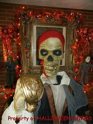 """ANIMATED 6 FOOT 3"""" LIFE SIZE * DEADLY DAN * PIRATES of the CARIBBEAN HALLOWEEN"""