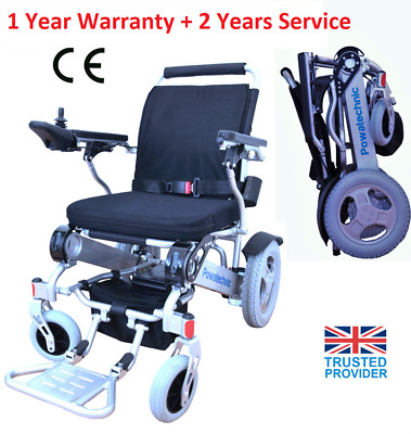 Light (28.5kg) Folding Electric Wheelchair Powerchair - dual batteries