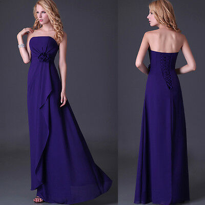19.98 FREE P&P Evening Gown Wedding Prom Party Homecoming Maxi Dresses LAST SALE