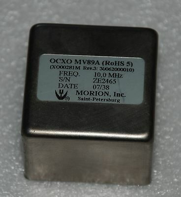 Morion Double oven ultra precision OCXO MV89A 10mhz,year 2007 MANUFACTURED