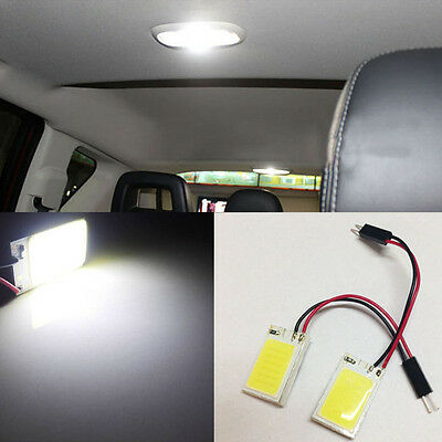 2X HID White 18COB LED Panel Light For Car Interior Map/Dome/Door/Trunk Light D1