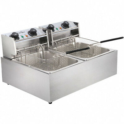 5 Star Chef Industrial Professional Stainless Steel 20L Deep Fryer w Twin Basket