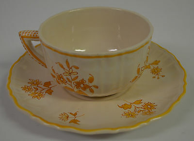 Tiffany & Co Limoges Porcelain France Hand Painted Cup and Saucer