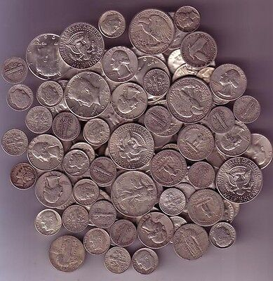 90% Silver US Coins lot of 1 oz. + 50 Coin Wheat / Indian Roll LOOK!!!