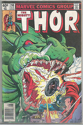 1980 MARVEL Comics #298 The Mighty THOR vs DRAGON'S BLOOD! Free S/H USA