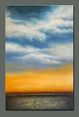 Original hand painted Abstract Landscape oil painting canvas Modern decor art