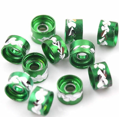 Wholesale 50Pcs Green Aluminum Tube Spacer Loose Bead Fashion Jewelry Making 6mm