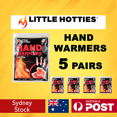 Little Hotties Hand Warmers 5 Pairs Heat Pack 8 Hours Warmer Sport Hot Socks New