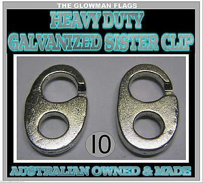 sister clip sister clips gal Galvanised boat boating marine nautical 10 total