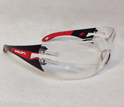 New Hilti Safety Glasses PP EY-GU C HC/AF - Clear - #2065445 New in Package