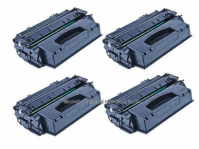 4PK Q7553X 53X Black Toner Cartridge for HP Laserjet MFP M2727nf M2727nfs P2015