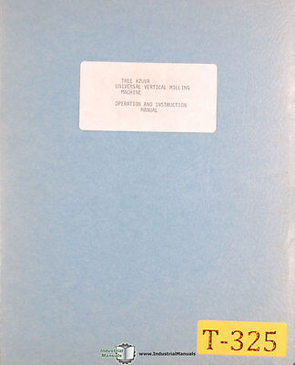 Precision Boring Machine Operations and Parts Manual 1942 Excello Style 2112-A