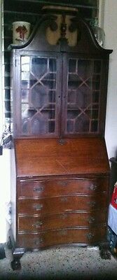 ANTIQUE TRADITIONAL STYLE SECRETARY DESK WITH CLAW FEET, BEST PRICE