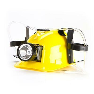 Miner's Drinking Hat With LED Light - Novelty Coal Miner Beer Minions Minion alc