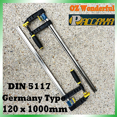 2 PCS Paccaya 120 x 1000mm F Clamps Germany Type F Clamps High Quality