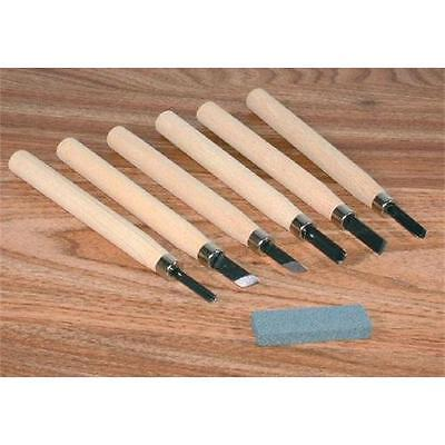 Draper 6-Piece Miniature Carving Set And Stone 31777