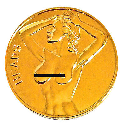 Lucky Gold-Mirrored Good Luck Head Tail Challenge Coin US SELLER FAST SHIPPING