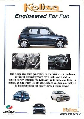 Perodua Kelisa 2004-05 UK Market Sales & Specification Leaflet Brochures