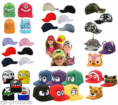 Boys Girls Adjustable BASEBALL CAP Kids Snapback Children Child Hat Novelty New