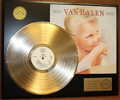 Van Halen 24k Gold LP Record Display Limited Edition Free Priority Shipping USA