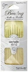 Dazzle-It Beading Gold Eye Needles 8pcs Threader Size 10-12