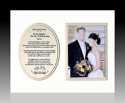 Wedding To My Brother on My Wedding Day personalized custom Gift bride picture
