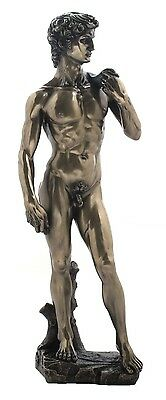 Michelangelo's  DAVID Figurine Veronese Bronze Sculpture Statue Classical Art