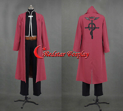 Fullmetal Alchemist Edward Elric Cosplay Costume - Custom made in Any size
