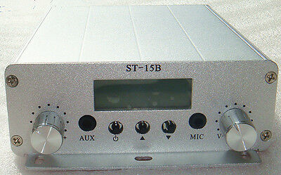 local freeshipping 1.5/15W stereo PLL FM transmitter broadcast station 87-108MHZ