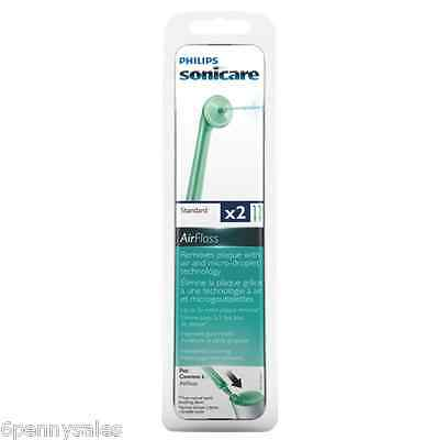 2 Sonicare AIR FLOSS Replacement Flosser Nozzle Heads Tips Sonic Care AirFloss