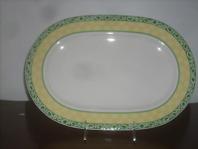 "Villeroy & Boch Acacia fine china 1- oval platter 13 1/2""long new perfect"