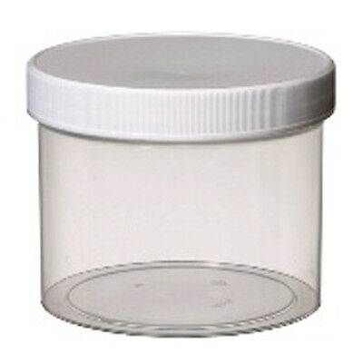Plastic clear Jar with white cap 2oz, Set of 50 Pc