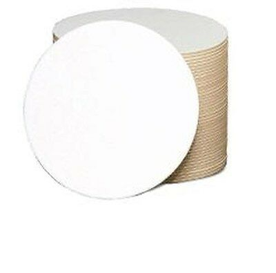 Qty 50 –ROUND Blank Coasters cocktails bar plain white perfect for crafts