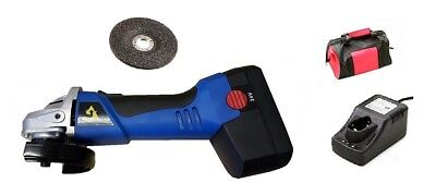 """24V 4-1/2"""" Cordless Angle Grinder wNiCd 24V Battery, Fast Charger Carrying Bag"""