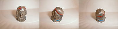 Thimble pewter scarce fagin dicken's character bust vintage free shipping