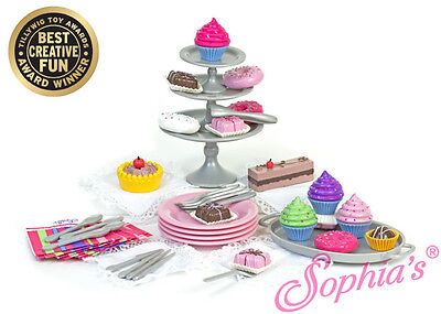 """Doll Clothes 18"""" Sophia Dessert Toy Set 39 Piece Sized For American Girl Dolls"""