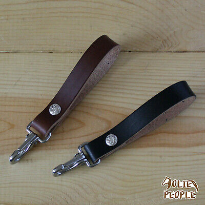 Leather Key Fob Belt Loop Holder Purse Strap_ SS Clip Key Chain_FREE SHIPPING