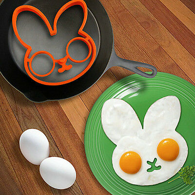 High Quality Cute Silicone Rabbit Shape Egg Pancake Shaper Mould