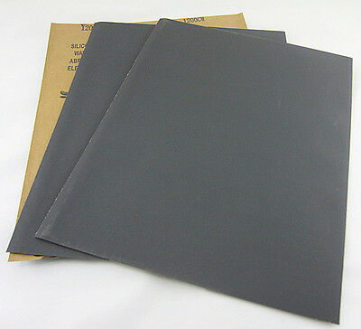 20 pc Sandpaper Wet or Dry Abrasive 400 - 3000 Grit  9 inch X 11 inch sheet