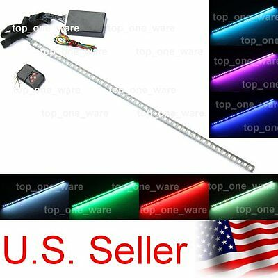 "24"" 7 Colors 48-SMD Knight Rider LED Strip Warning Lighting Bar Kit with Remote"