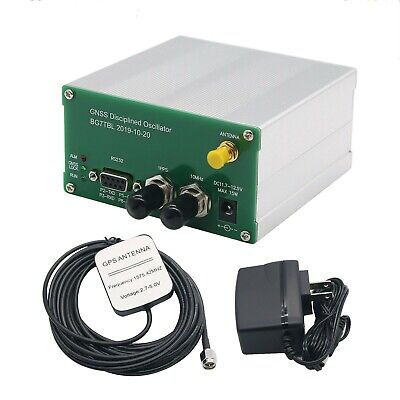 10MHZ OUTPUT Square WAVE GPS DISCiPLINED CLOCK GPSDO with Antenna power supply