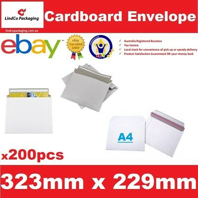200PCS 323X229mm A4 document Semi Rigid Cardboard Envelope hard mailer