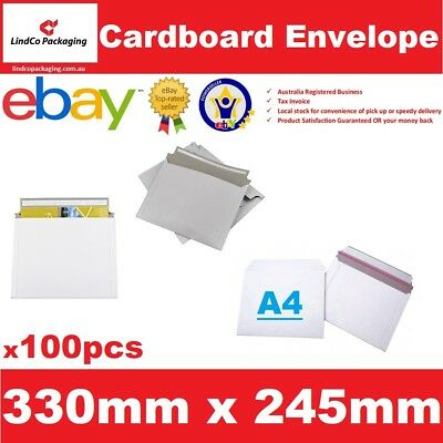 100PCS 330X245mm A4 document Semi Rigid Cardboard Envelope hard mailer